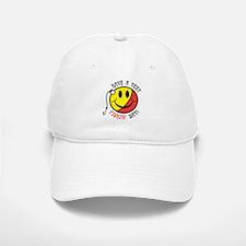 Yellow Red Fishin Smiley Baseball Baseball Cap