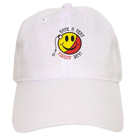 Yellow Red Fishin Smiley Cap