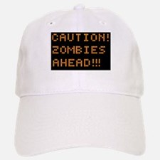 Road Sign Zombies Ahead Baseball Baseball Cap