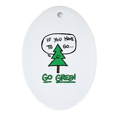 Go Green Oval Ornament