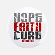 "HOPE FAITH CURE Diabetes 3.5"" Button"