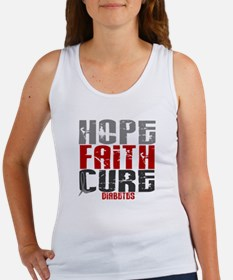 HOPE FAITH CURE Diabetes Women's Tank Top