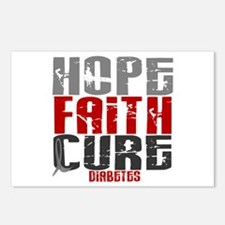 HOPE FAITH CURE Diabetes Postcards (Package of 8)