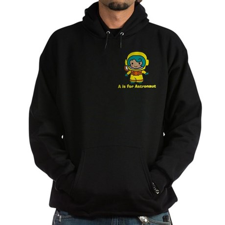 A is for Astronaut Girl Hoodie (dark)