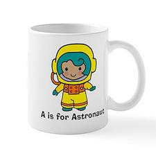 A is for Astronaut Girl Mug