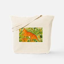 reclining cat Tote Bag