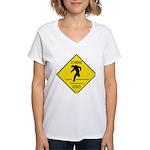 Zombie Crossing Women's V-Neck T-Shirt