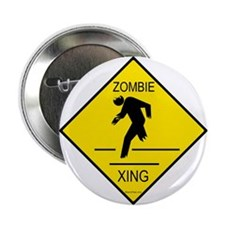 """Zombie Crossing 2.25"""" Button"""