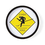 Zombie Crossing Wall Clock