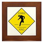 Zombie Crossing Framed Tile