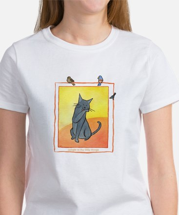 Cat-Delight in the Little Things Women's T-Shirt