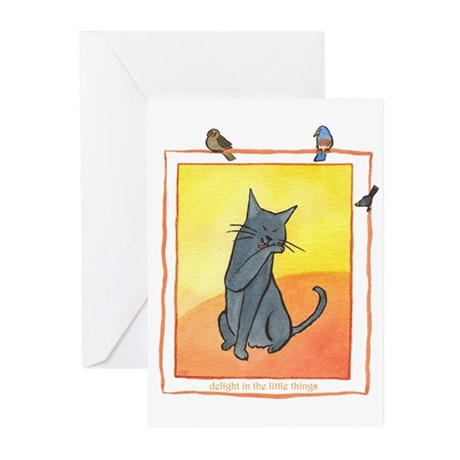 Cat-Delight in the Little Things Greeting Cards (P