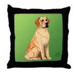 Golden Lab Throw Pillow