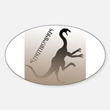 Struthiomimus Oval Stickers