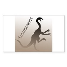Struthiomimus Rectangle Decal