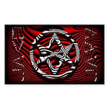 HAIL EVIL Hexagram Red ~ Evil Decal