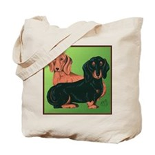 Double Dachshunds Tote Bag