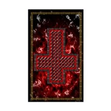 Upside Down Knot Cross ~ Evil Decal