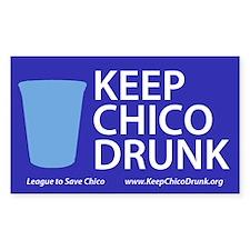 Keep Chico Drunk Bumper Stickers