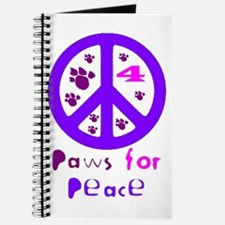 Paws for Peace Purple Journal