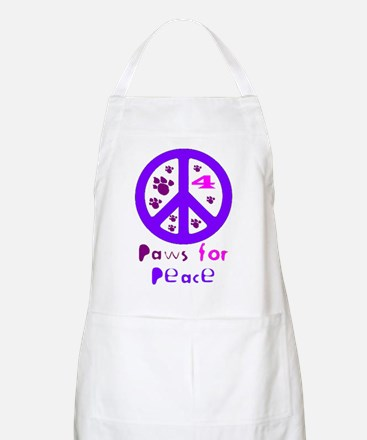 Paws for Peace Purple BBQ Apron