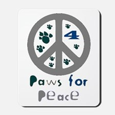 Paws for Peace Grey Mousepad
