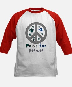 Paws for Peace Grey Kids Baseball Jersey