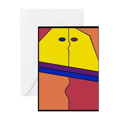 Modern Art Valentine Greeting Card
