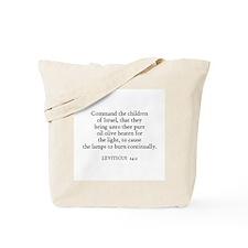 LEVITICUS  24:2 Tote Bag