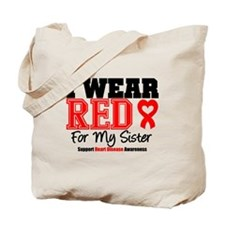 I Wear Red Sister Tote Bag