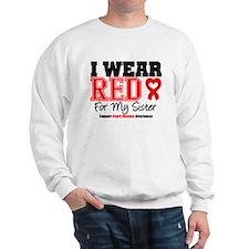 I Wear Red Sister Sweatshirt