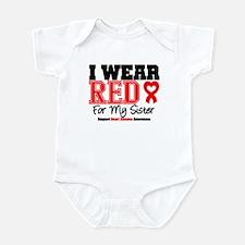 I Wear Red Sister Infant Bodysuit