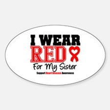 I Wear Red Sister Oval Decal