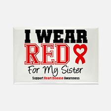 I Wear Red Sister Rectangle Magnet