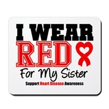 I Wear Red Sister Mousepad