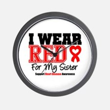 I Wear Red Sister Wall Clock