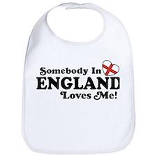 Somebody in England Loves Me Bib