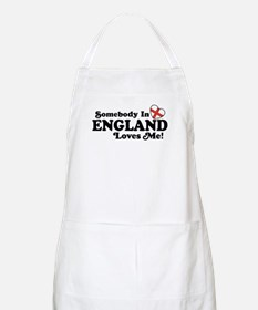 Somebody in England Loves Me BBQ Apron