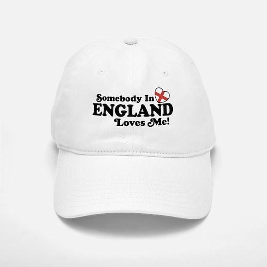 Somebody in England Loves Me Baseball Baseball Cap