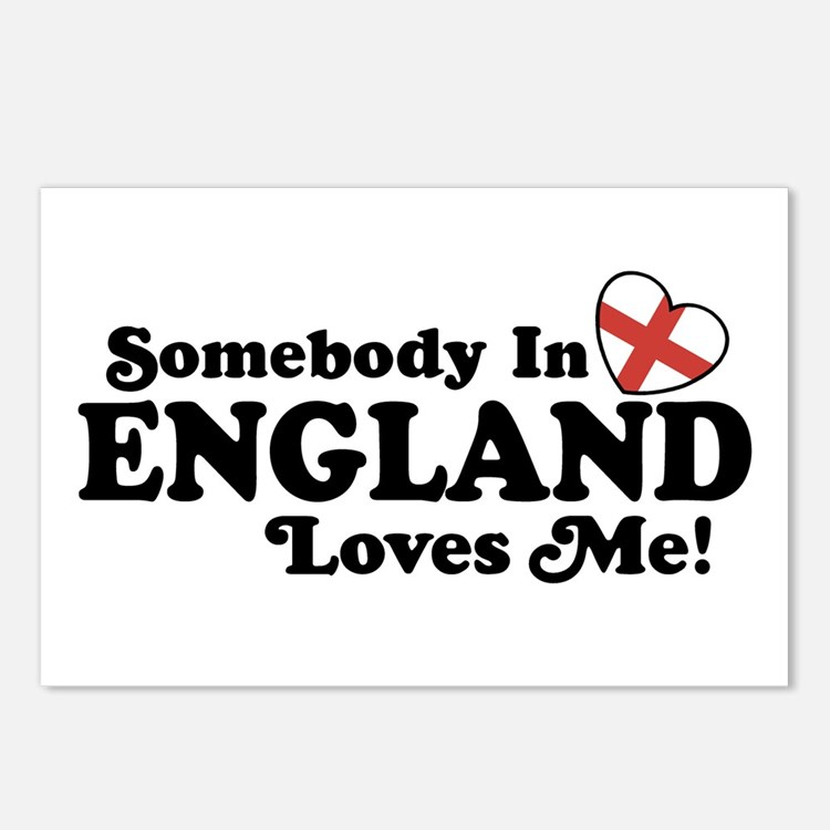 Somebody in England Loves Me Postcards (Package of