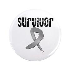 """Brain Cancer Survivor 3.5"""" Button"""