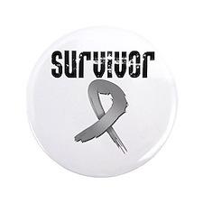 """Brain Cancer Survivor 3.5"""" Button (100 pack)"""