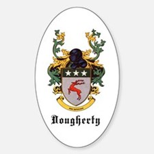 Dougherty Coat of Arms Oval Decal