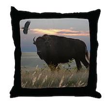 Bison/Eagle Digital Collage Custom Pillow