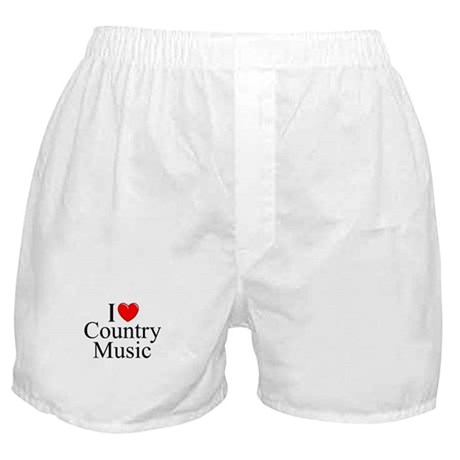 """""""I Love (Heart) Country Music"""" Boxer Shorts"""