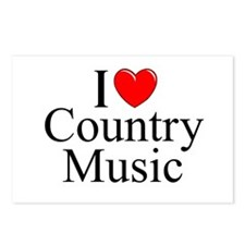 """I Love (Heart) Country Music"" Postcards (Package"