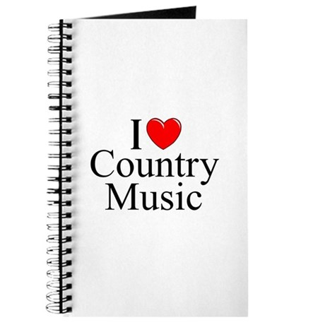 """""""I Love (Heart) Country Music"""" Journal"""