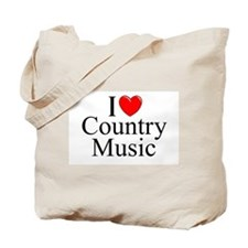 """""""I Love (Heart) Country Music"""" Tote Bag"""