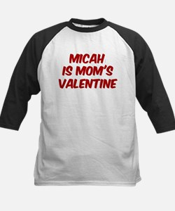 Micahs is moms valentine Kids Baseball Jersey