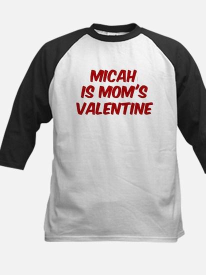 Micahs is moms valentine Kids Baseball Jersey